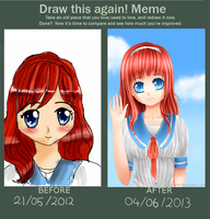 Draw This Again: Red-haired girl by Isabel-Afolalu