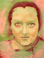 Pink and Green Portrait by ame-ga-furu