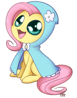 Fluttershy - Hoodie Chibi by Bukoya-Star