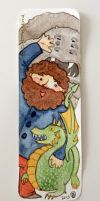 Hagrid bookmark by button-bird