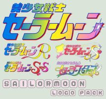 Sailormoon series logo pack by Bleuette