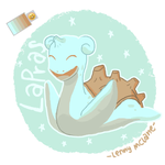 Lapras Is Happy by Leneeh