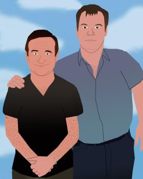 Bobby and Robin Williams by AndrewSS23