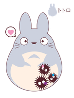Totoro for FB friend ::GIFT:: by Itachi-Roxas