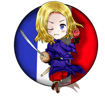 APH France chibi by Birittany