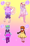 adopt batch 1 - $5 each [2/4 OPEN] by 8madopts