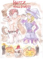 Fairy Tail Halloween by momo59100