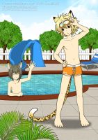 commission : swimming pool by MaowDao