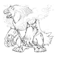 Typhlosion- colorless by TheLaughingChimera