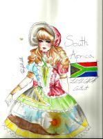 South Africa inspired Lolita outfit! by MikkiCrossCC