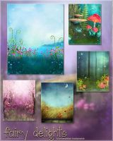 Fairy Delights Backgrounds by cosmosue