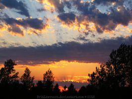 August Sunset 2013 by BritLawrence