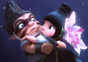 Gnomeo and Juliet by SinkingInCinderx
