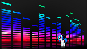 Vinyl Scratch Wallpaper by XVanilla-TwilightX