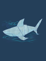 Origami Shark by RileyRiot