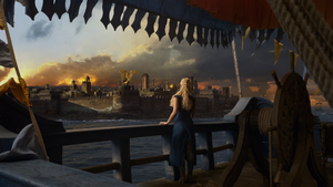 Game of Thrones Wallpaper: Astapor (with Daenerys) by Magaax