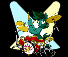 Commish - Drum Pony OC by Rannva
