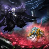 Pisces vs Thanatos by zerodarknova