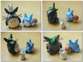 Totoro and Friends, again! [Body Shot] by lonelysouthpaw