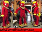 Big Draft Horse Red Yellow Mac Fursuit Costume by AtalontheDeer