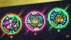 Yo-Kai Watch (Thornyan and Sandmeh's medals) by ENDORE050