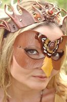 Forest Spirit Leather Bird mask by Beadmask