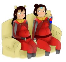 Comm- ikki and Jinora by chubbystuck-lover