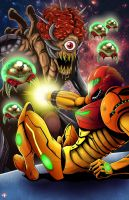Metroid Boss Battle by WiL-Woods