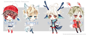 [CLOSED] Winter Sweater Adoptables by Staccatos