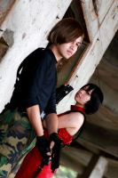 Poised: Ada and Leon by aiko-mizuno