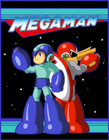 Mega Man and Proto Man by JusteDesserts