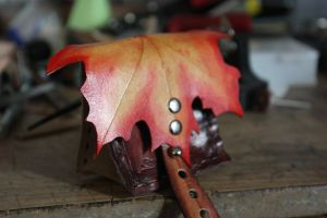Autumn Leaf Gusset Pouch by DariusSilver