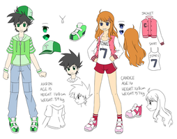 OC Ref: Aaron and Candice by Kyoukouo