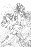 Wonder Woman and Mongul by Sequential76