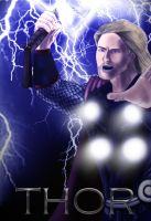 Thor God of Thunder by mrkmhtet