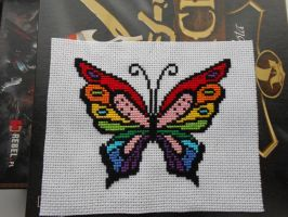 Rainbow Butterfly by Adela555
