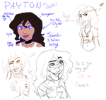 The Payton Sketchdump of Death. by AnodizedPink