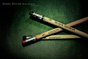 Harry Potter:::Spell Pencils 4 by FagXarT