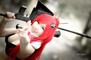 Bang! Straight to your heart!! Yoko Littner by AEimAginE