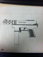 TEC-9 (Drawing) by RatRobot