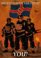 Royal Army recruiting poster by Sapiento