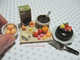 Miniature Chocolate Cake Preparation by ilovelittlethings