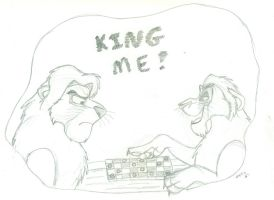 King Me (Sketch) by wahyawolf