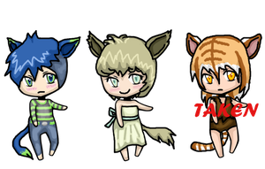 REDUCED! Random Kemonomimi Adopts - CLOSED by hoovesandswords