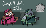 Concept a Week 06 - Merchant Bird by Spottedfire-cat
