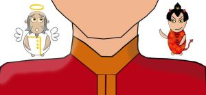 Avatar: Iroh on My Shoulder by violetdawson