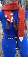 Paprika Custom Fox Scarf with chocolate accents by Arexandria