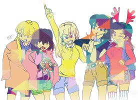 Colorful SHINee Girls by Pulimcartoon