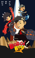 Boboiboy Finale Pixel Art COLOURED by Maxvel33