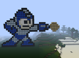Minecraft megaman by Mattgamer1337
